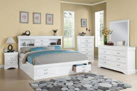 Cal King Storage Bedroom Set Item 024484ck Louis Philippe Iii White Finish California King Bed