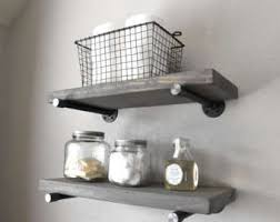bathroom shelves etsy