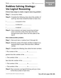 logical reasoning worksheets worksheets