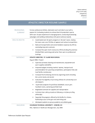 sports resume template athletic director resume template resume