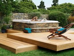 home design backyard patio ideas with tub window treatments