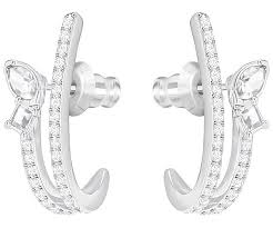 pierced earring henrietta pierced earrings white rhodium plating jewelry