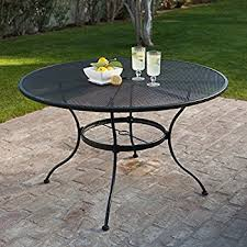 Amazoncom  DC America WIT Charleston Wrought Iron Table - 60 inch round wrought iron outdoor dining tables