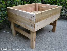 Impressive Raised Planter Box Design How To Build An Elevated