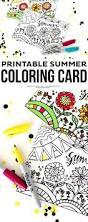 printable summer coloring card summer boredom boredom busters