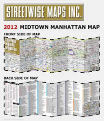 Midtown Manhattan Map Streetwise Midtown Manhattan Map Laminated City Street Map Of