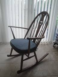 vintage ercol u0027swan u0027 golden dawn rocking chair all original