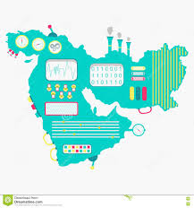 Asia And Middle East Map by Map Of Middle East Machine Stock Vector Image 71992509