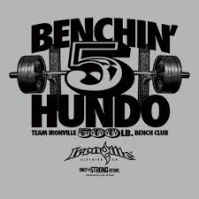 200 Lbs Bench Press Shop All Designs By Ironville Clothing Bodybuilding Clothing