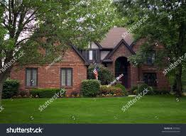house feel small cottage beautiful manicured stock photo 351026