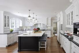 white kitchen with black island white kitchen with black beadboard island transitional kitchen