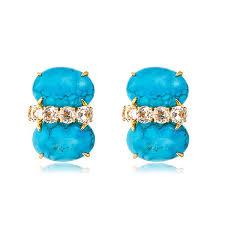 turquoise stud earrings bounkit bounkit turquoise stud earrings hauteheadquarters