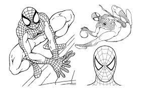 coloring impressive spiderman print coloring