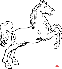horse outline drawing free clipart design download