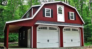 Gambrel Roof Garages by 2 Story Prefab Garage Horizon Structuresprefab Car Massachusetts