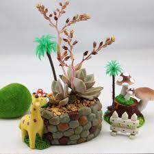 amazon com yournelo cute giraffe resin flower plant pots