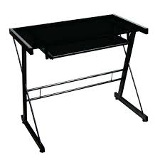 Black Glass Computer Desk Europa Black Glass Computer Desk With Side Drawer Drawers Small Pc