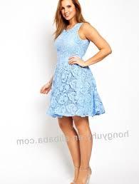 plus size light blue dress pluslook eu collection