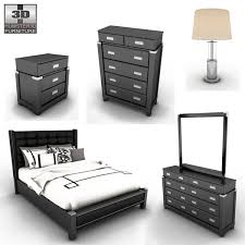 bedroom table ls set of 2 3d model ashley diana platform bedroom set cgtrader