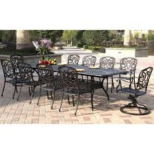Aluminum Patio Dining Set Darlee Florence 11 Cast Aluminum Patio Dining Set Mocha