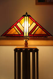 Table Lamp Shades by Custom Made Mission Style Lamp With Stained Glass Lamp Shade