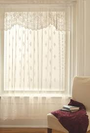 Old Fashioned Lace Curtains by Lovely Lace Curtains Installed In The Window With White Trims