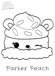 parker peach coloring pages from num noms get coloring pages