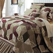 King Quilt Bedding Sets Burgundy Green Country Paisley Block Cal King Size