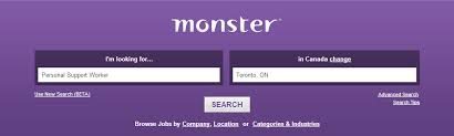 monstor jobs how to use monster ca to find psw jobs