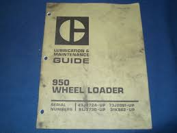 cat caterpillar 950 wheel loader lubrication u0026 maintenance book