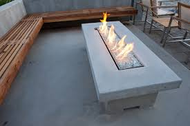 Patio Fireplace Table Cantilever Bench Seating And Fire Table Modern Patio Salt