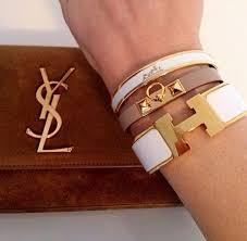 hermes bracelet white images Hermes bracelet stacks lollipuff jpg