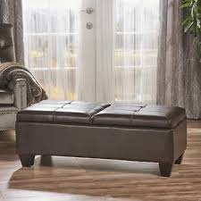 brown ottomans u0026 benches costco