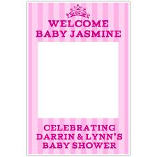 princess tiara it u0027s a welcome baby shower selfie frame photo