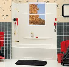 Bathtub Stalls 3 Piece Tub Surround With Cutting Template And Window Trim Kit At