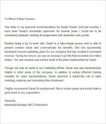 best ideas of writing a good reference letter for employee with