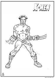 men wolverine coloring pages 02