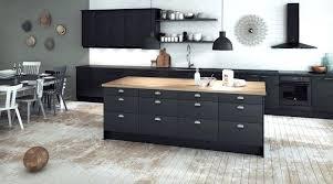 cuisine noir mat et bois cuisine noir mat et bois cuisine cuisine noir mat et bois clair