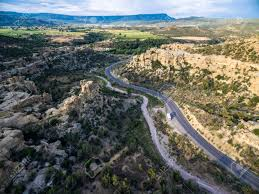 aerial view of mountains at grand mesa scenic byway near grand