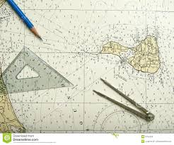 nautical map nautical chart and divider stock photos image 5754253