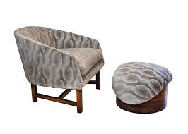 luxury reading chair and ottoman in home remodel ideas with