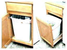 trash can cabinet insert in cabinet trash can cabinet swing out garbage can under cabinet