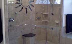 shower tremendous satiating frosted glass vs clear glass shower