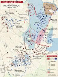 Gettysburg Map Civil War Battle Maps The Battle Of Brandy Station June 9