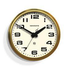 large retro wall clock brass newgate clocks brixton