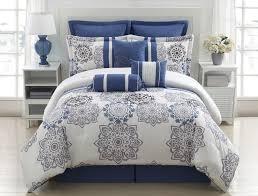 Grey Down Comforter Elegant Blue Bedding Details About 9 Piece Queen Kasbah Blue And