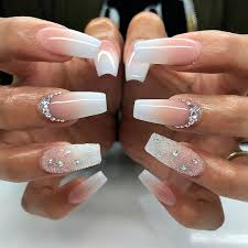 20 worth trying long stiletto nails designs white coffin nails