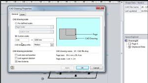 visio floor plan scale getting started with visio 23 importing cad drawings youtube