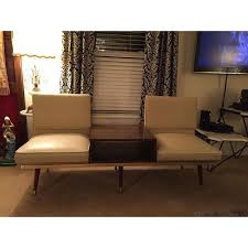 murphy miller kroehler mid century two seat sofa bench with center