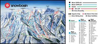 Utah Ski Resort Map by Snowbasin Ski Resort Skirebel Magazine